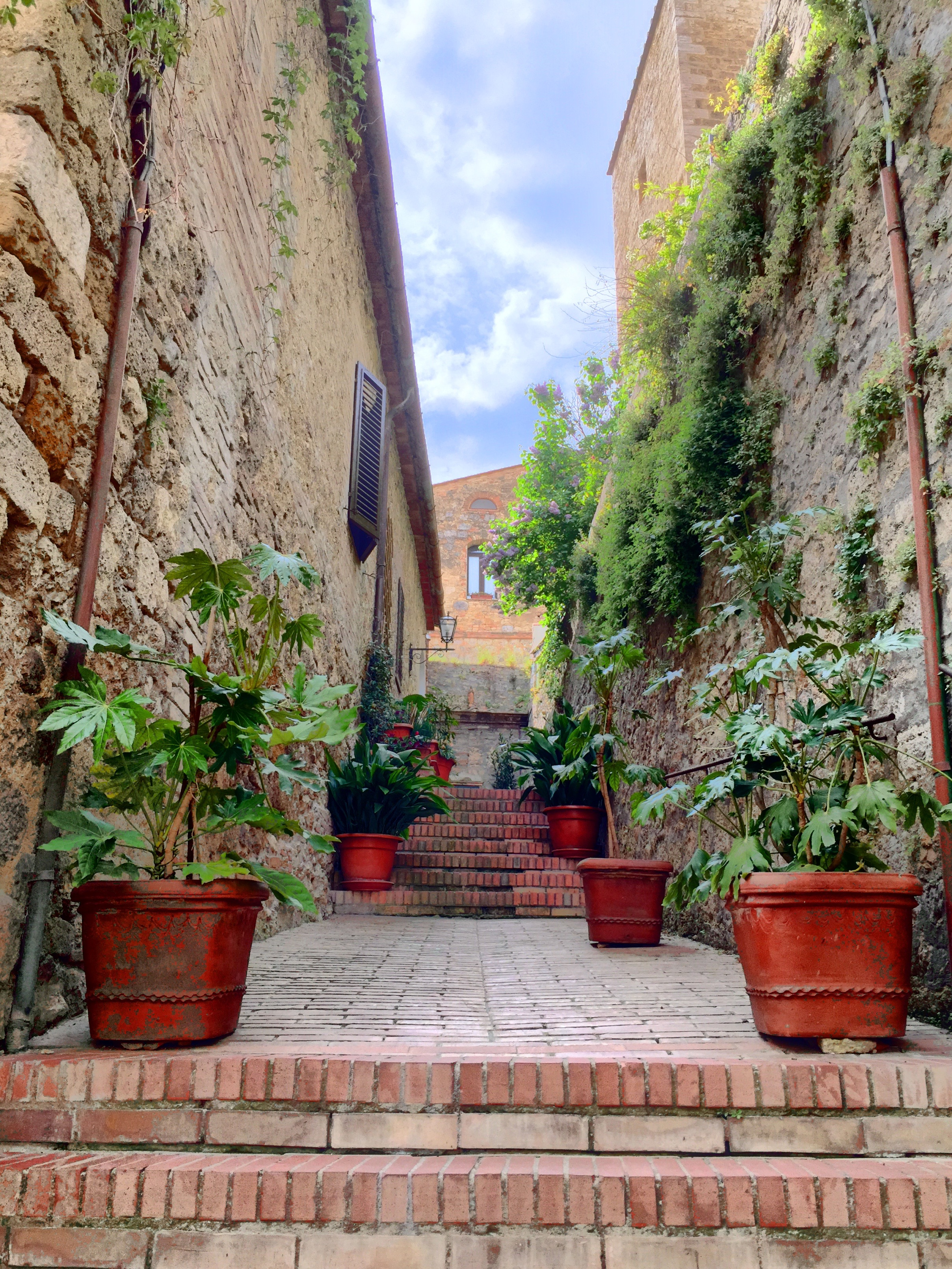 View from a San Gimignano side street. Tuscany, Italy