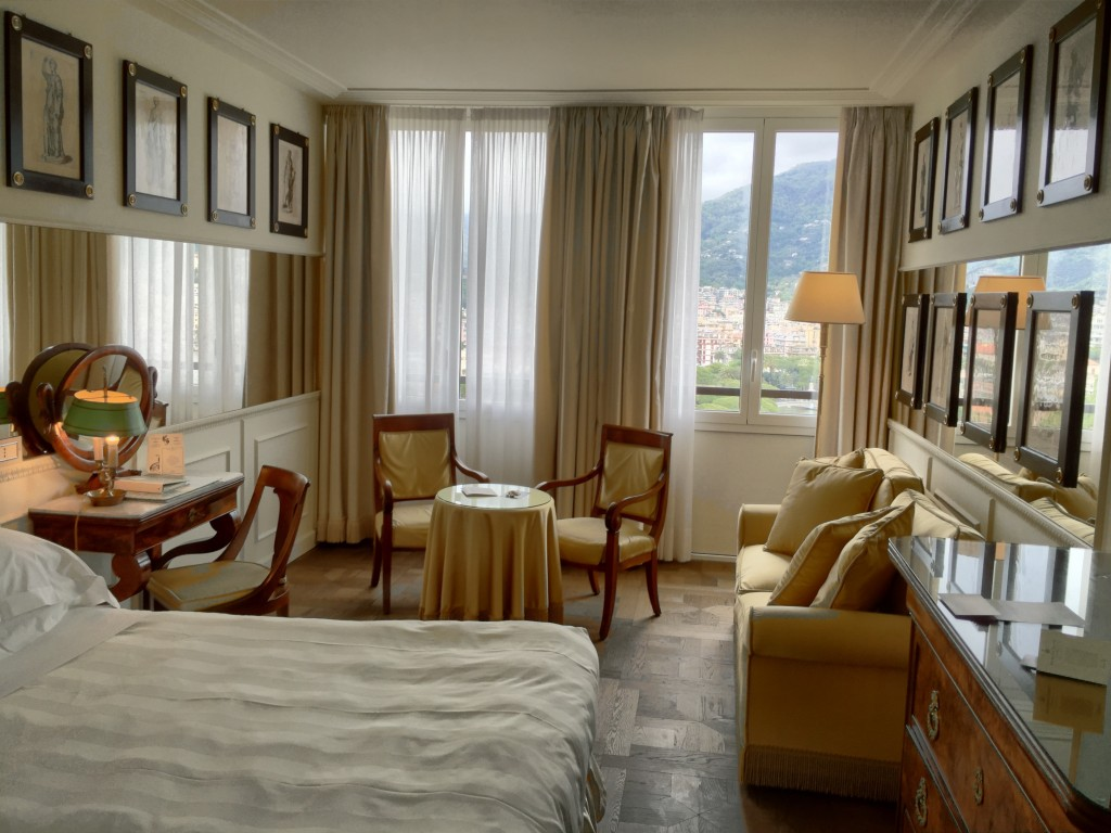 Excelsior Palace Hotel Room in Rapallo, Italy.